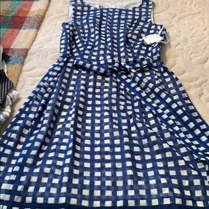 Anne Klein gingham fit and flare dress